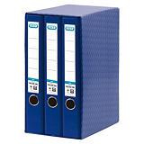 Elba Box de 3 archivadores de palanca A4 lomo 55 mm. azul