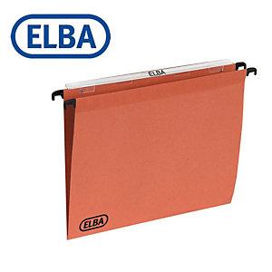 """Elba Cartelle sospese per cassetti """"Defi"""" - Interasse 33 cm - Fondo a V - Formato esterno cm 31,6 x 25 h. (confezione 25 pezzi)"""