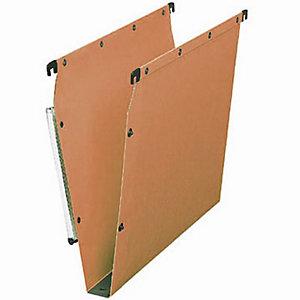Elba Dossier suspendu L'OBLIQUE Ultimate® pour Armoires - en Kraft - Boutons-pression - Fond U 30 mm - Orange