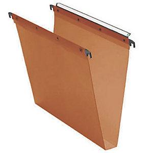 Elba Dossier suspendu L'OBLIQUE Ultimate® pour Tiroirs - en Kraft - Boutons-pression - Fond U 30 mm - Orange