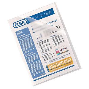 Elba Dossier uñero, Folio, polipropileno liso, 140 micras, transparente
