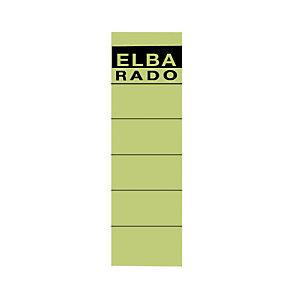 Elba Etiqueta lomera 190 x 54 mm verde