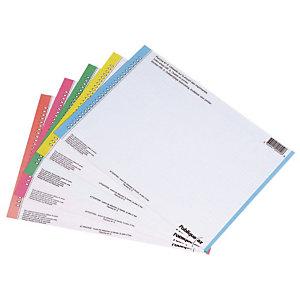 Elba Etiquette pour dossiers suspendus n°0 - pour tiroirs - Sachet de 10 planches