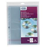 Elba Funda protectora para CDs/DVDs, A4, polipropileno, 11 orificios, suave, transparente