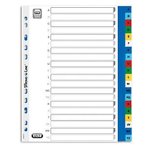 Elba Intercalaires alphabétiques maxi A4+ en polypropylène, 20 divisions - Assortis