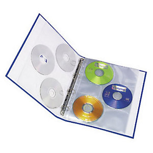 Elba Pochette lisse pour CD/DVD, A4, polypropylène, 11 trous, transparente (Lot de 10)