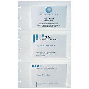 Elba Pochettes supplémentaires pour porte-cartes de visite Proline - Format 57 x 90 mm
