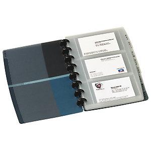 Elba Porte-cartes de visite Proline 90 cartes L.16 x H.21 cm - Noir/bleu