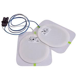 Electrodes adultes pour défibrillateur semi-automatique Saver one