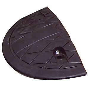 Embout demi-cercle pour ralentisseur en modules 5 cm noir