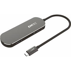 EMTEC Multiport & Multimedia Hub T650C, Type-C