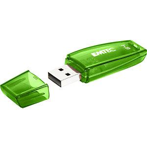 EMTEC Pen Drive C410 Color Mix, USB 2.0, 64 GB, Verde