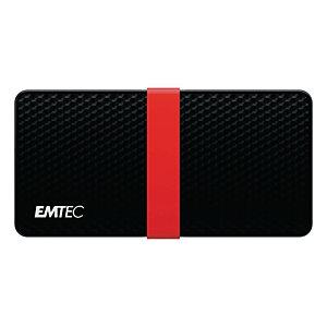 EMTEC X200 Power Plus - Disque SSD portable - 256 Go - USB-C 3.1 Gen 1 - Noir