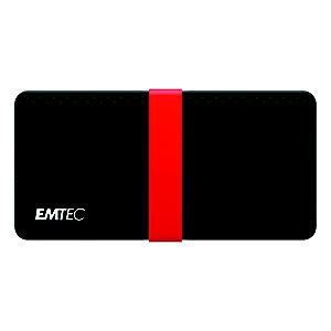 EMTEC X200 Power Plus - Disque SSD portable - 512 Go - USB-C 3.1 Gen 1 - Noir