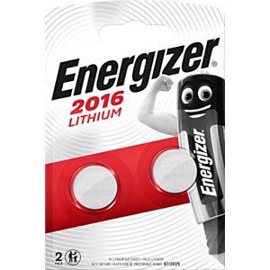Energizer 2016 Miniature Lithium Pilas de botón CR2016 3 V, 90 mAh, no recargables, blíster de 2