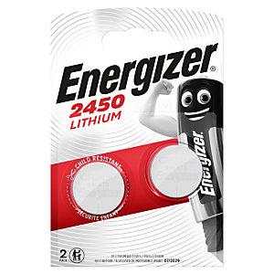 Energizer 2450 Miniature Lithium Pilas de botón CR2450 3 V, 620 mAh, no recargables, blíster de 2