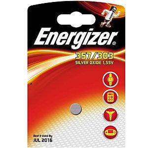 Energizer 357/303 Silver Oxide Pila alcalina de botón 357/303 1,55 V, no recargable, blíster de 1