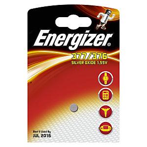 Energizer 377/376 Silver Oxide Pila de botón 377/376 1,55 V, 24 mAh, no recargable, blíster de 1