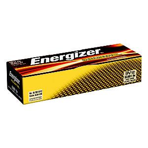 Energizer Alkaline Industrial Pilas alcalinas 9V/6LR61, no recargables, paquete de 12