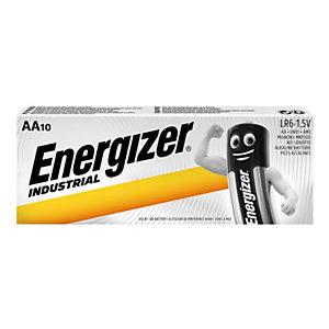 Energizer Alkaline Industrial Pilas alcalinas AA/LR06 1,5 V, no recargables, paquete de 10