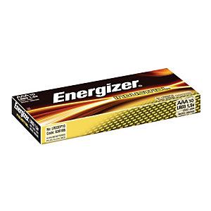 Energizer Alkaline Industrial Pilas alcalinas AAA/LR03 1,5 V, no recargables, paquete de 10