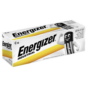 Energizer Alkaline Industrial Pilas alcalinas C/LR14 1,5 V, no recargables, paquete de 12