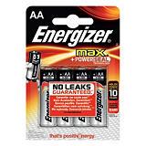 Energizer Alkaline Max Pilas alcalinas AA/LR06 1,5 V, no recargables, blíster de 4