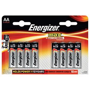 Energizer Alkaline Max Pilas alcalinas AA/LR06 1,5 V, no recargables, blíster de 8