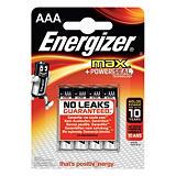 Energizer Alkaline Max Pilas alcalinas AAA/LR03 1,5 V, no recargables, blíster de 4