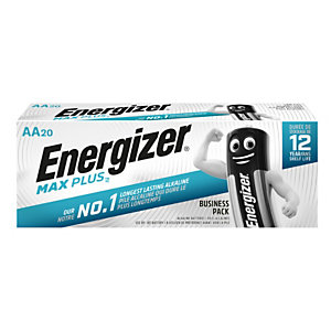 Energizer Alkaline Max Plus Pilas alcalinas AA/LR06 1,5 V, no recargables, paquete de 20