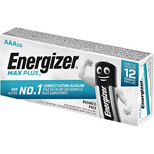 Energizer Alkaline Max Plus Pilas alcalinas AAA/LR03 1,5 V, no recargables, paquete de 20