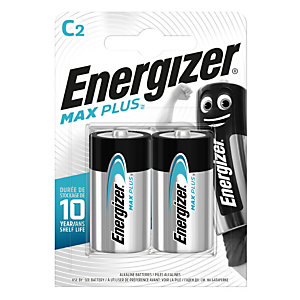 Energizer Alkaline Max Plus Pilas alcalinas C/LR14 1,5 V, no recargables, blíster de 2