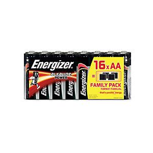 Energizer Alkaline Power Pilas alcalinas AA/LR06 1,5 V, no recargables, paquete de 16