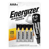 Energizer Alkaline Power Pilas alcalinas AAA/LR03 1,5 V, no recargables, blíster de 4