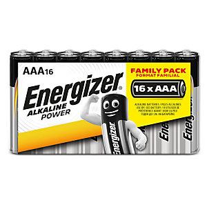 Energizer Batterie alcaline non ricaricabili classiche AAA/LR03 Confezione da 16