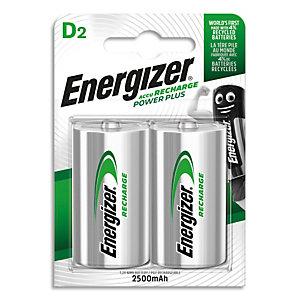 ENERGIZER Blister de 2 piles D LR20 Power plus recheargeable 2500 mAh 7638900138757