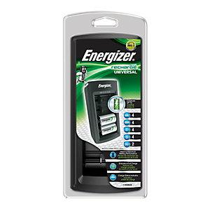 Energizer Cargador universal para pilas recargables AA, AAA, C, D y de 9V