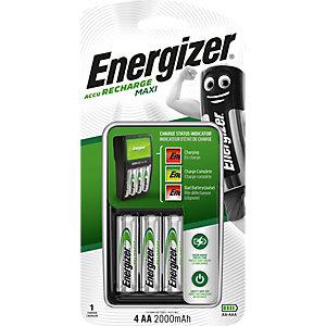 Energizer Chargeur de piles Maxi pour format AA et AAA + 4 accus AA rechargeables 2000 mAh