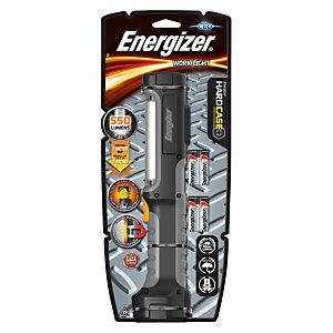 Energizer HardCase Pro Work Light 4AA, Linterna portátil, 550 lúmenes, 4 pilas AA, negro