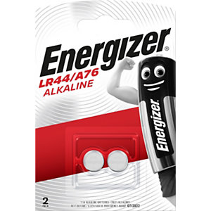 Energizer LR44/A76 Miniature Alkaline Pilas de botón alcalinas LR44/A76 1,5 V, 80 mAh, no recargables, blíster de 2
