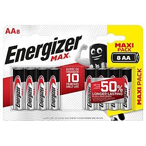 Energizer Max, Batterie alcaline, AA, Non ricaricabili (confezione 8 pezzi)