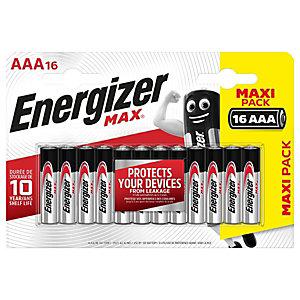 Energizer Pila alcalina Max, Ministilo AAA, 1,5 Volt (confezione 16 pezzi)