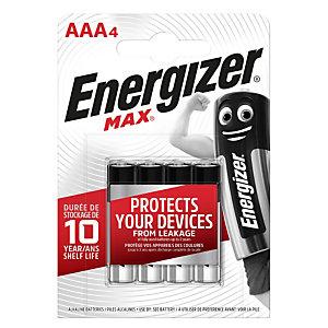 Energizer Pila alcalina Max, Ministilo AAA, 1,5 Volt (confezione 4 pezzi)