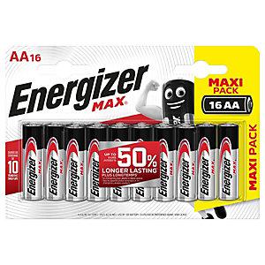Energizer Pila alcalina Max, Stilo AA, 1,5 Volt (confezione 16 pezzi)