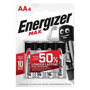 Energizer Pila alcalina Max, Stilo AA, 1,5 Volt (confezione 4 pezzi)
