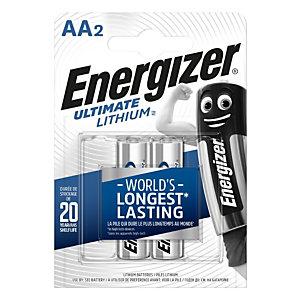 Energizer Pile AA / LR6 Ultimate Lithium - Lot de 2