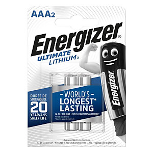 Energizer Pile AAA / LR3 Ultimate Lithium - Lot de 2