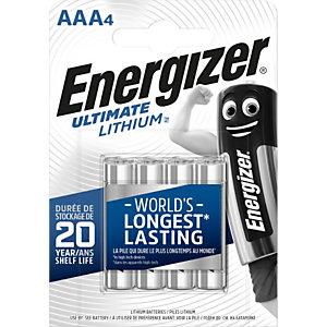 Energizer Pile AAA / LR3 Ultimate Lithium - Lot de 4