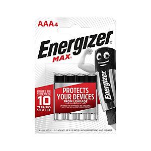 Energizer Pile alcaline AAA / LR3 Max - Lot de 4