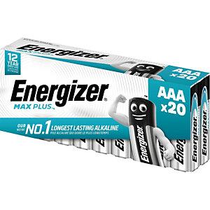 Energizer Pile alcaline AAA / LR3 Max Plus - Lot de 20